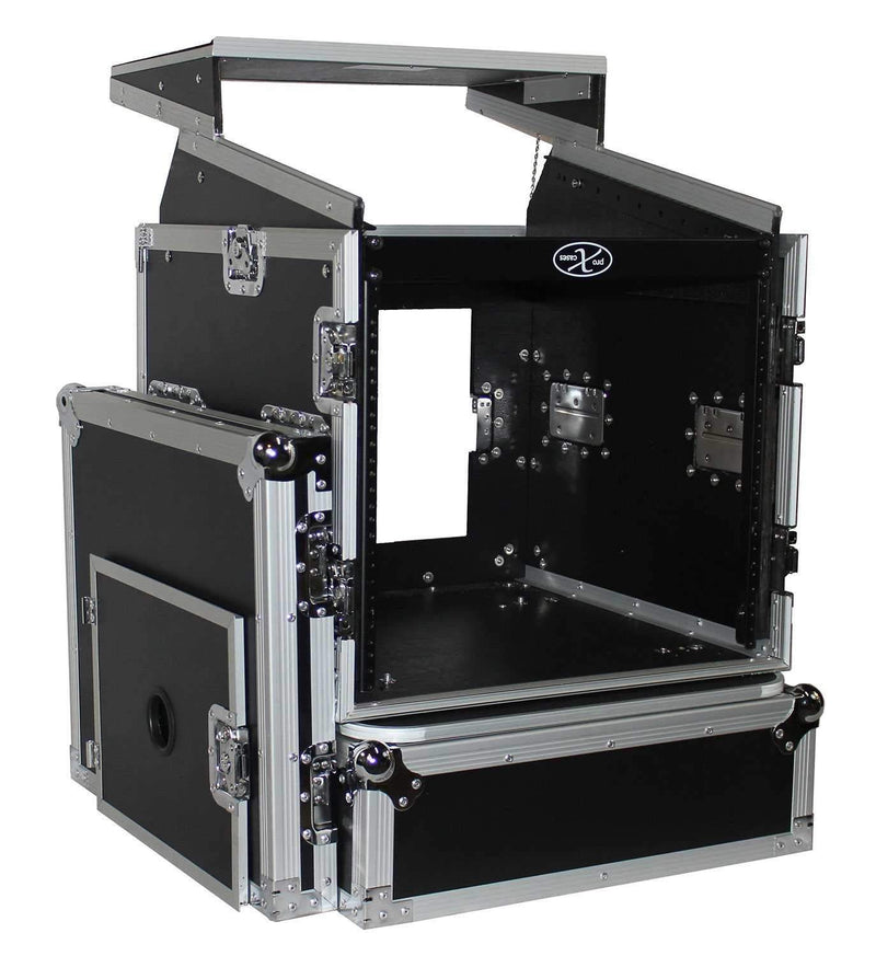 ProX T-10MRLT 10Ux10U Combo Rack Case with Shelf - PSSL ProSound and Stage Lighting
