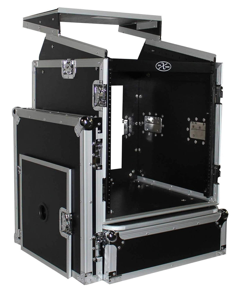 ProX T-12MRLT 12U x 10U DJ Combo Flight Case - PSSL ProSound and Stage Lighting