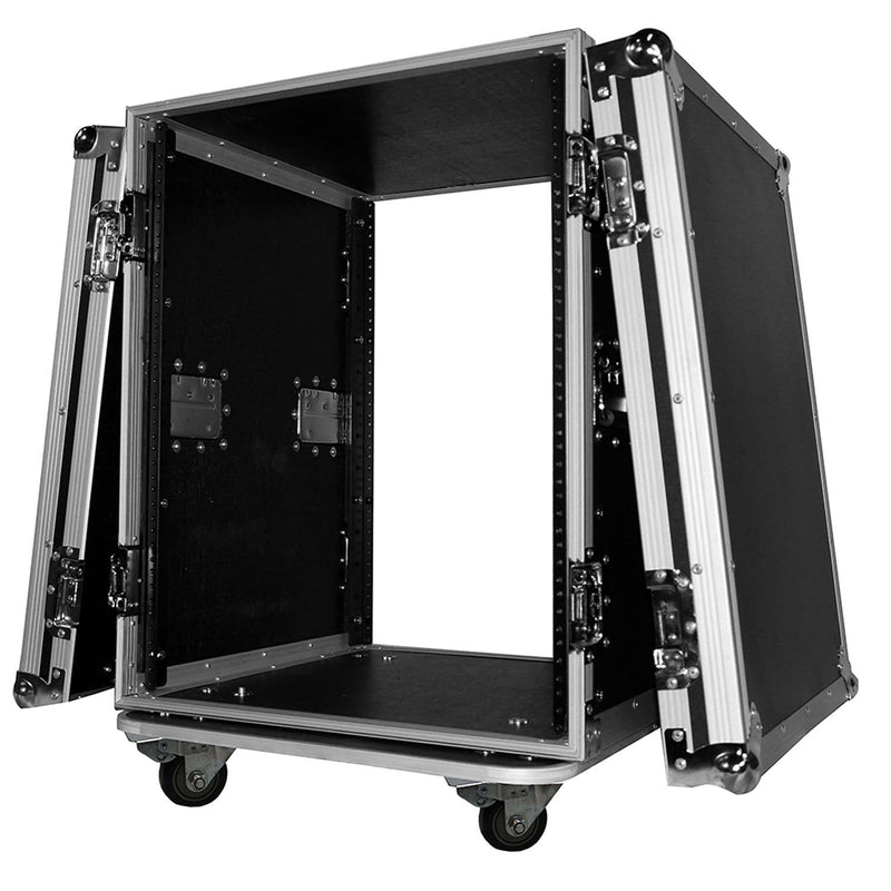 ProX T-14RSS 14U Amp Rack ATA Flight Case with Wheels - PSSL ProSound and Stage Lighting