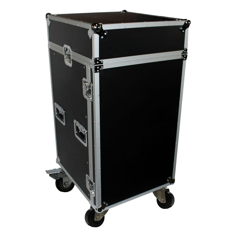 ProX T-18MRLT 18Ux10U Combo Rack Case with Laptop Shelf - PSSL ProSound and Stage Lighting