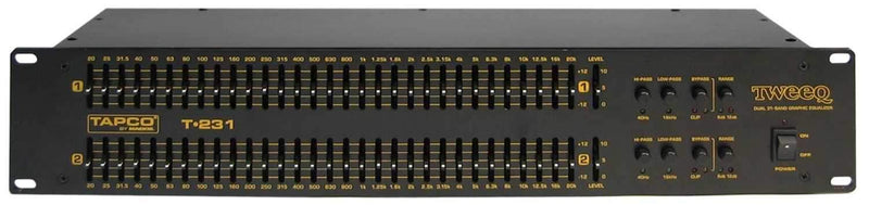 Tapco T-231 TWEEQ 2 Dual 31 Band EQ - PSSL ProSound and Stage Lighting