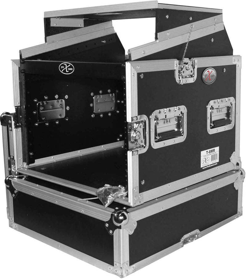 ProX T-8MRSS 8Ux10U Mixer Combo Amp Rack Case - PSSL ProSound and Stage Lighting