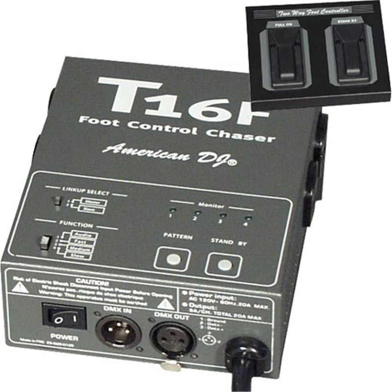 Elation T16F Foot Controller with Foot Switch - PSSL ProSound and Stage Lighting