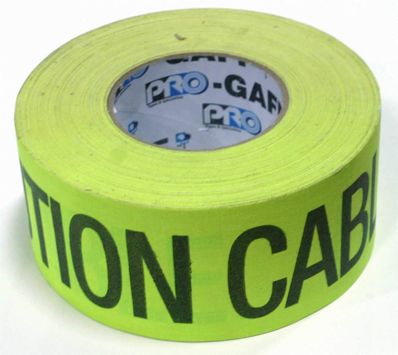 PRO T246 Yellow Caution Gaffers Stage Tape 2 In x 55 Yds - PSSL ProSound and Stage Lighting
