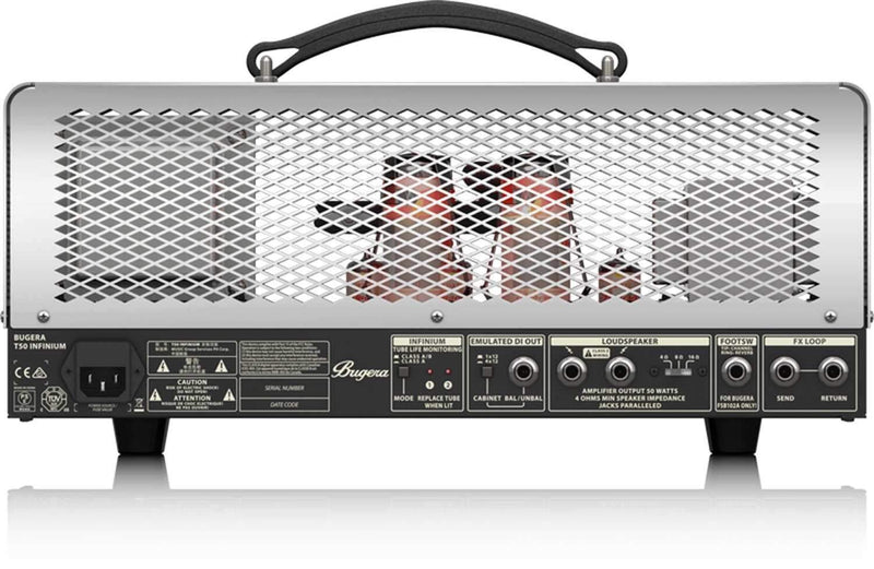 Bugera T50INFINIUM 50W Cage 2-Ch Tube Amp Head - PSSL ProSound and Stage Lighting