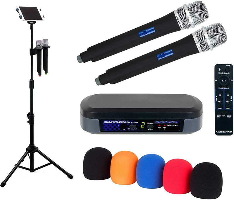 VocoPro Digital Karaoke Mixer with Pro Tablet Stand - PSSL ProSound and Stage Lighting