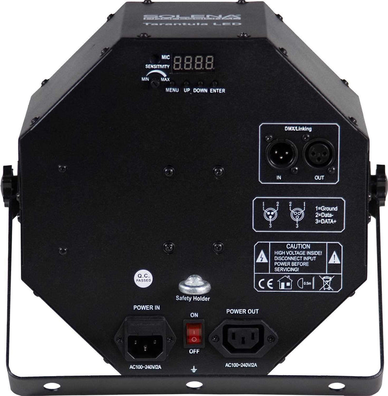 Solena Tarantula LED RGBWA 2-in-1 Effect Light - PSSL ProSound and Stage Lighting