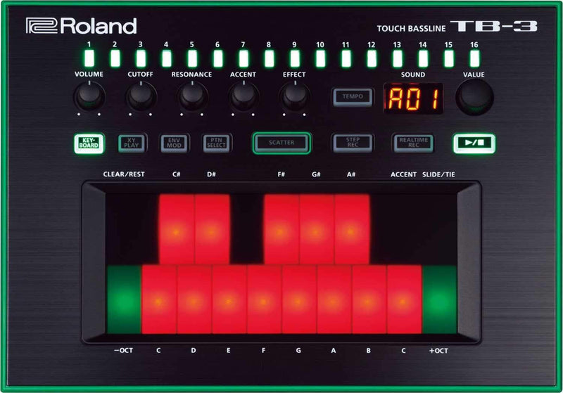 Roland Aira TB-3 Touch Bassline Bass Synth - PSSL ProSound and Stage Lighting