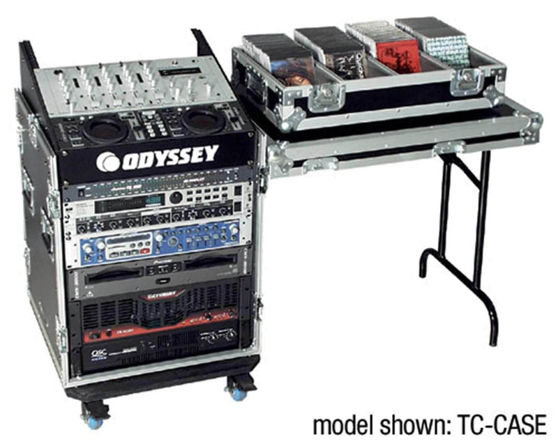 Odyssey Slant Rack with Table 11-Top 16-Bottom Sp - PSSL ProSound and Stage Lighting