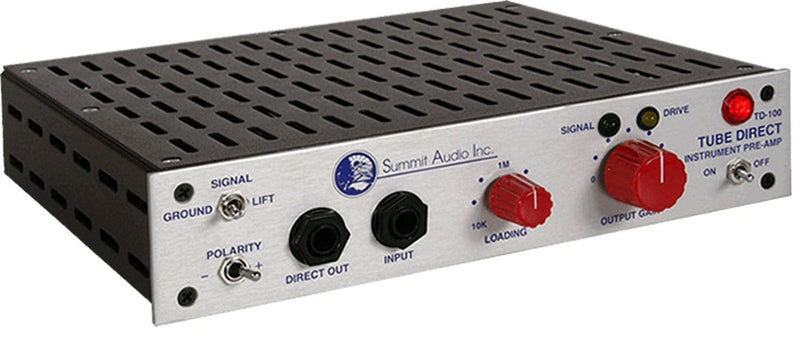 Summit Audio TD-100 Instrument Preamp & Direct Box - PSSL ProSound and Stage Lighting