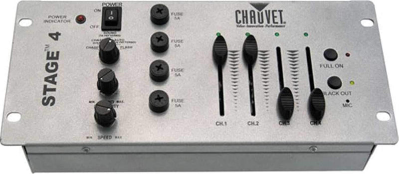 Chauvet TFX-DC4 4 Channel Chase Controller Dimmer - PSSL ProSound and Stage Lighting