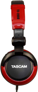 Tascam TH2000R Red DJ and Studio Headphones - PSSL ProSound and Stage Lighting