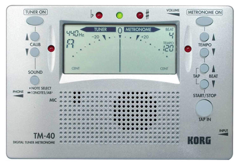 Korg TM40 Tuner - Metronome Combo - PSSL ProSound and Stage Lighting