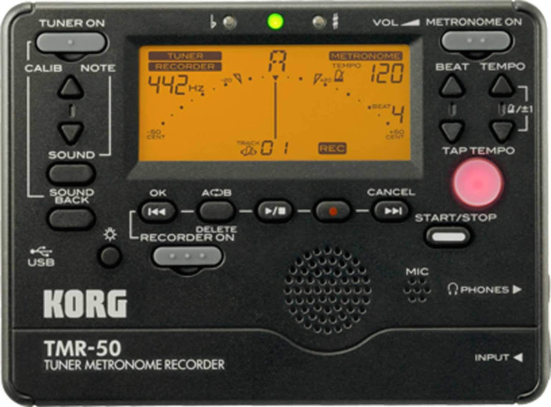 Korg TMR50BK Recordable Tuner & Metronome Black - PSSL ProSound and Stage Lighting
