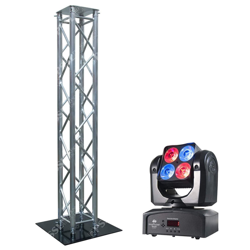 ADJ American DJ Inno Pocket Wash & Global Truss 8.20 Foot Totem - PSSL ProSound and Stage Lighting