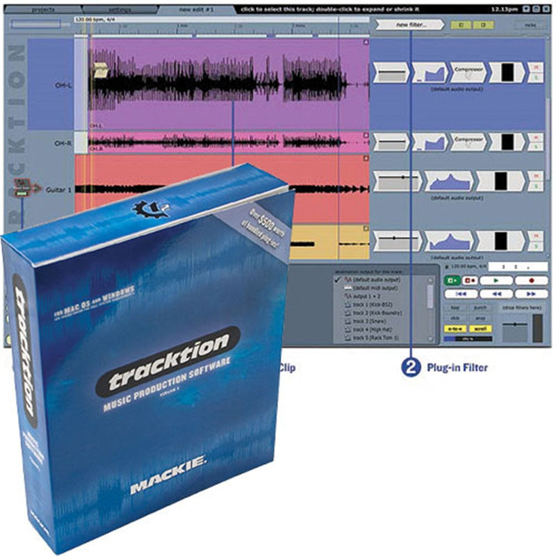 Mackie TRACKTION 2 Audio Recording And Midi Seqncr - PSSL ProSound and Stage Lighting