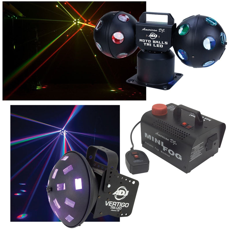 American DJ Tri LED Party Pak 4 Lighting Pack - PSSL ProSound and Stage Lighting
