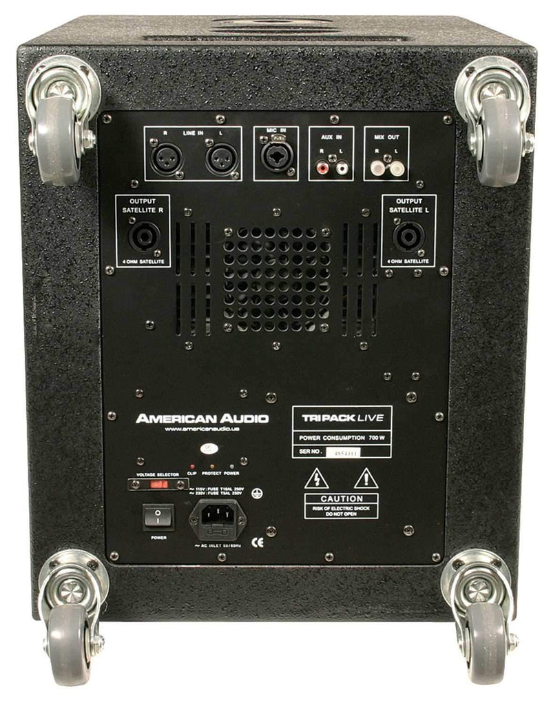 American Audio Tri Pack Live Powered Speakers - PSSL ProSound and Stage Lighting