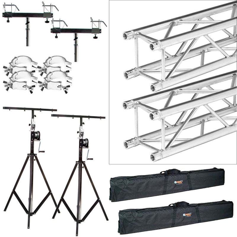 Global Truss ST-132 Stands with F34 12.7 Ft Truss plus Bags & Clamps - PSSL ProSound and Stage Lighting