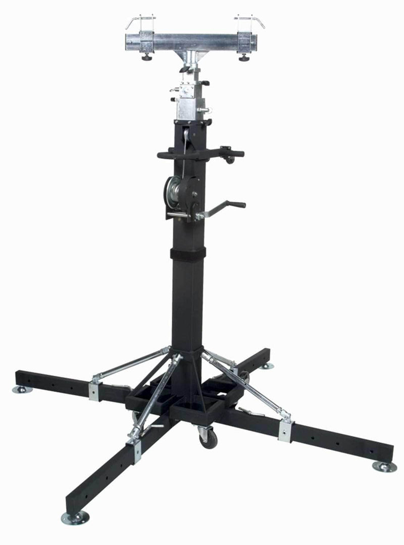 Global Truss ST-180 Crank Stands with 12.7 Ft F34 Truss & Clamps - PSSL ProSound and Stage Lighting