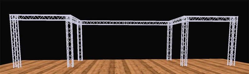 Global Truss 10 Foot x 40 Foot F34 Tradeshow Display System - PSSL ProSound and Stage Lighting