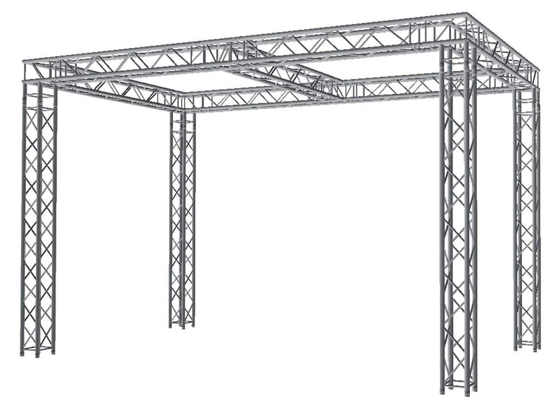 Global Truss 10 Ft x20 Ft Truss Display System with Center Beam - PSSL ProSound and Stage Lighting