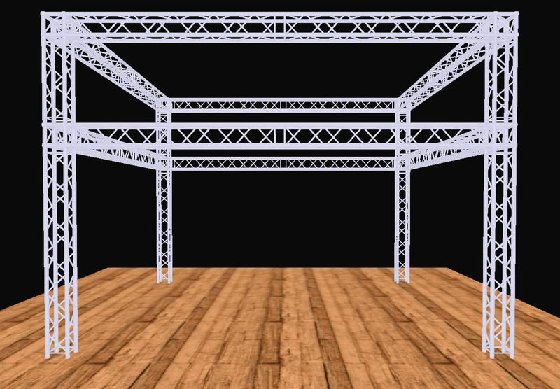 Global Truss 20 Ft x 20 Ft F34 Double Tier Display System - PSSL ProSound and Stage Lighting