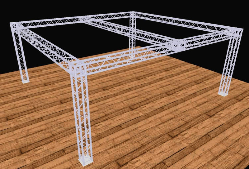 Global Truss 20 Ft x 20 Ft F34 Truss Display Booth with Center Beam - PSSL ProSound and Stage Lighting