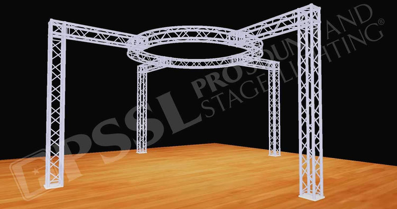 Global Truss 20 Foot x20 Foot F34 Display Booth Circle - PSSL ProSound and Stage Lighting