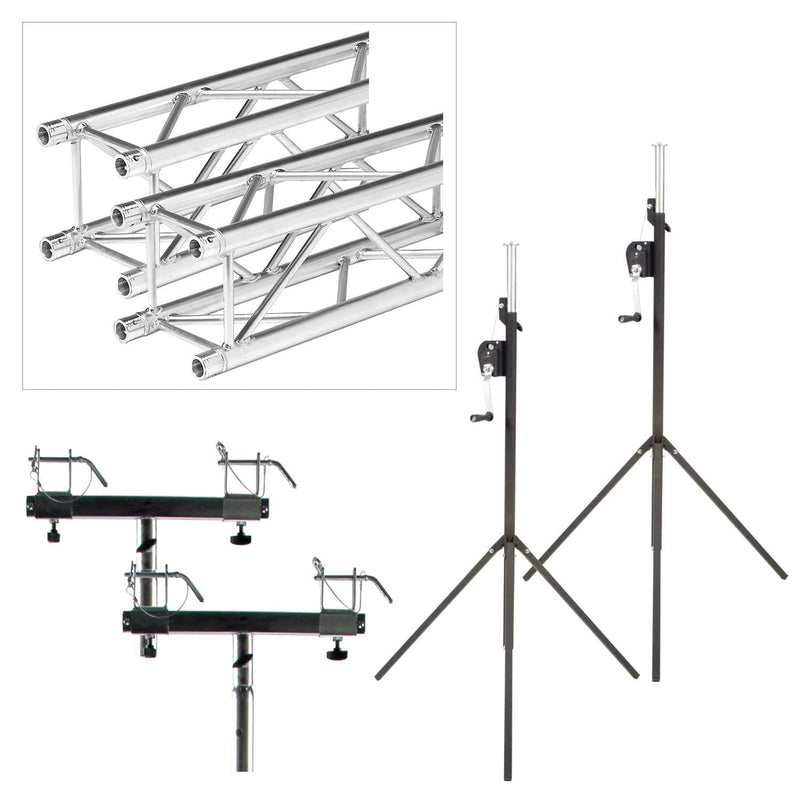 Global Truss ST-90 Crank Stand 10 Ft F24 Truss Bridge - PSSL ProSound and Stage Lighting