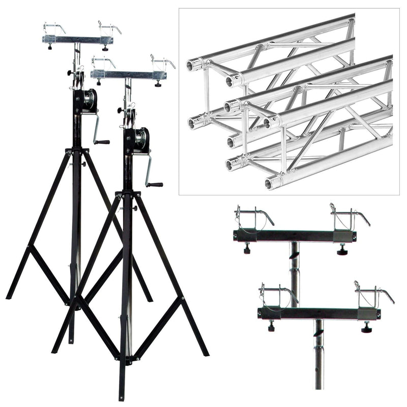 Global Truss ST-132 Crank Stand with F34 10-Foot Truss Pack - PSSL ProSound and Stage Lighting