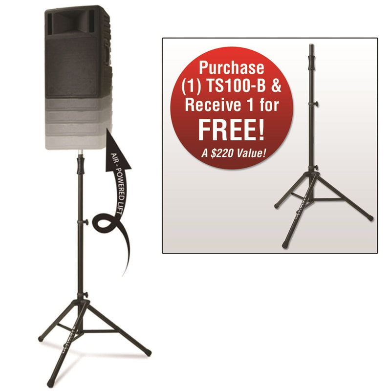 Ultimate TS100BPAIR Hydraulic Speaker Stand Pack - PSSL ProSound and Stage Lighting