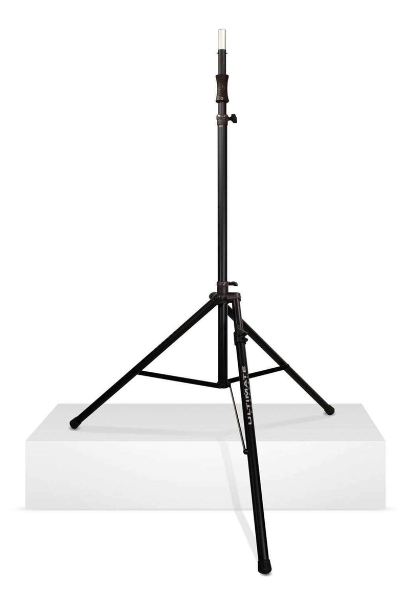 Ultimate TS110BL 9.2Ft Air-Powered Tall Speaker Stand with Leveling Leg - PSSL ProSound and Stage Lighting