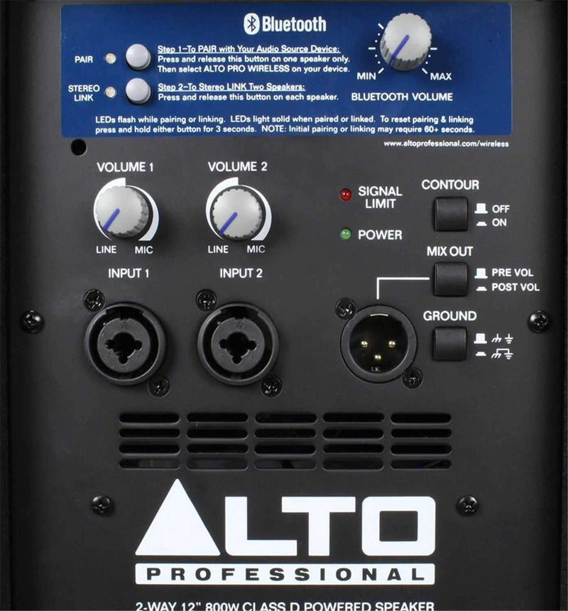 Alto Professional TS112W 12-Inch Powered Wireless Speaker - PSSL ProSound and Stage Lighting