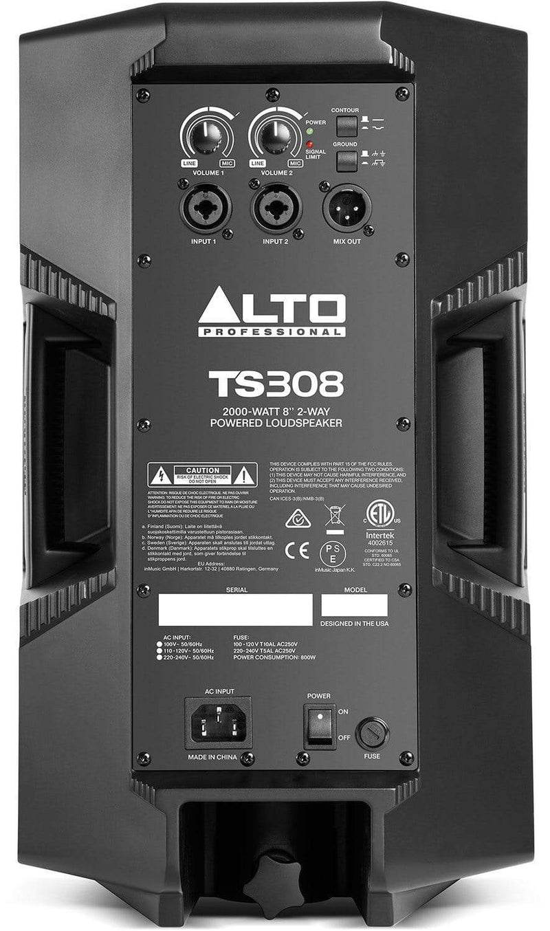 Alto TS308 8-Inch 2 Way Powered Speaker - PSSL ProSound and Stage Lighting
