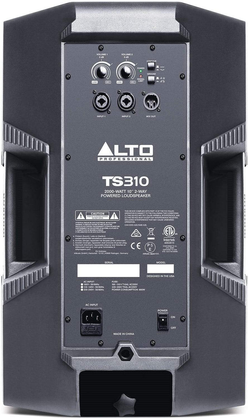 Alto TS310 10-Inch 2 Way 2000w Powered Speaker - PSSL ProSound and Stage Lighting