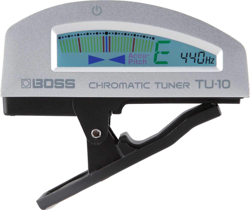 Boss TU-10-SV Silver Chromatic Guitar Clip-On Tuner - PSSL ProSound and Stage Lighting