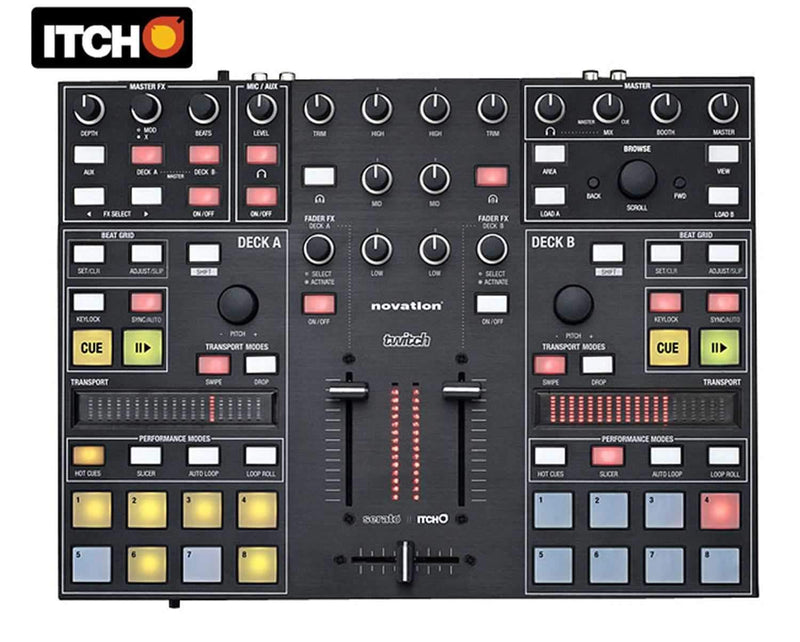 Novation Twitch Serato Itch DJ Controller - PSSL ProSound and Stage Lighting