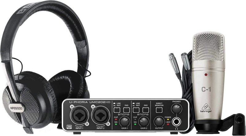 Behringer U-Phoria Studio Pro Recording Bundle - PSSL ProSound and Stage Lighting