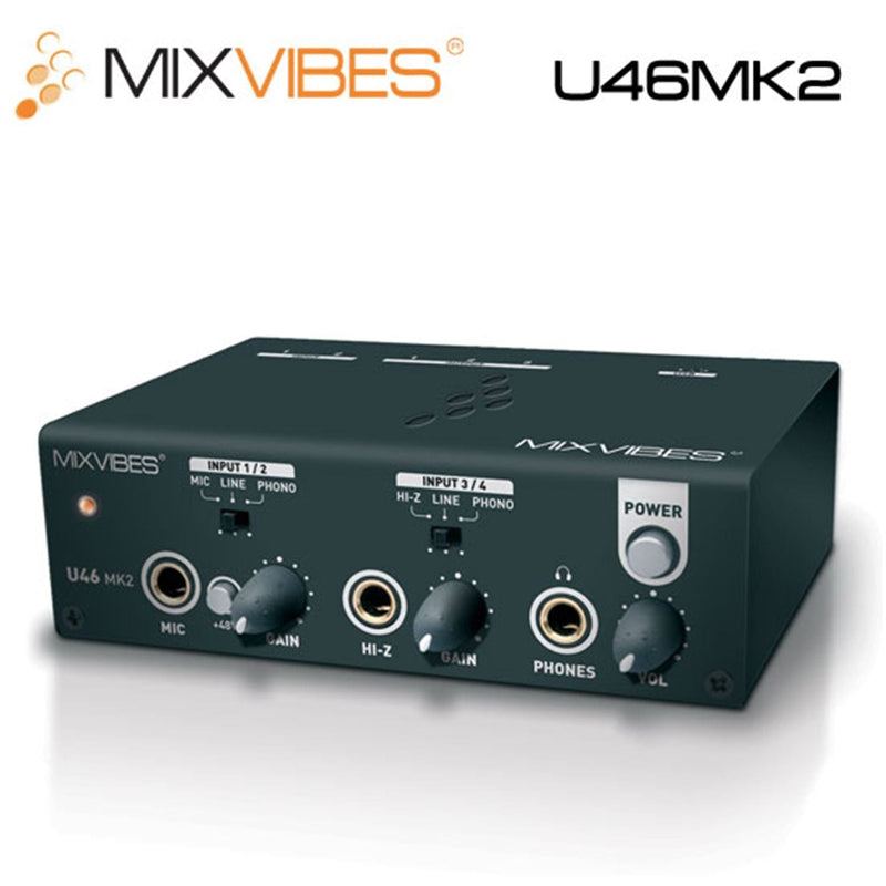 Mixvibes U46MKII 4In/6Out USB Audio DJ Interface - PSSL ProSound and Stage Lighting