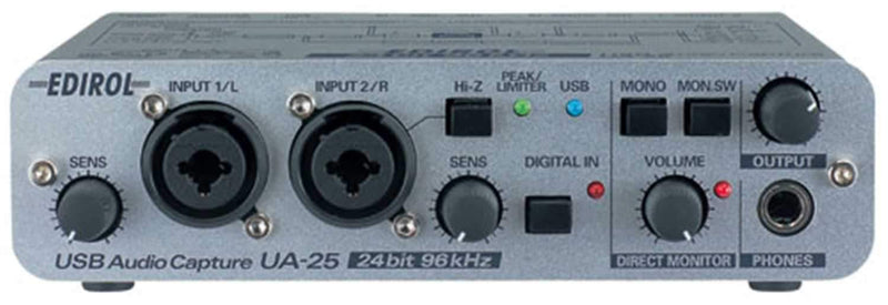 Edirol UA-25 Usb Audio And Midi Interface - PSSL ProSound and Stage Lighting
