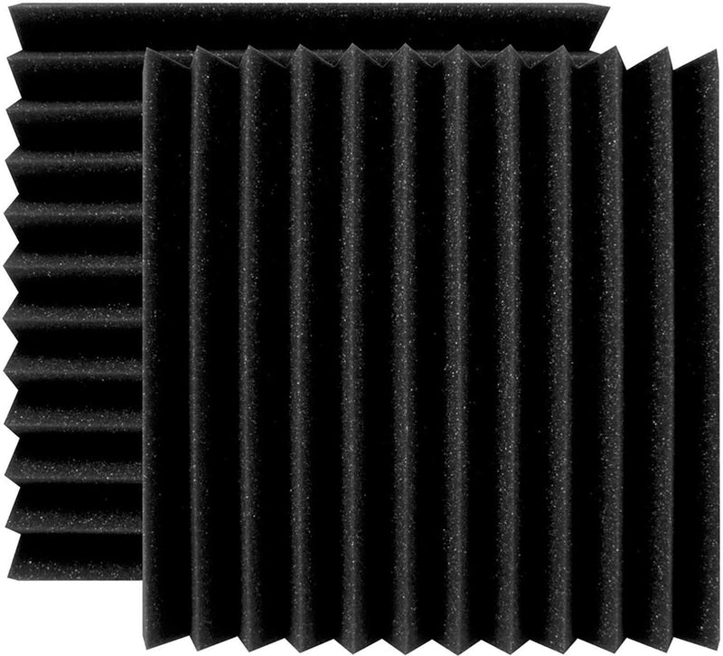 Ultimate Acoustics 12x12 Charcoal Wedge Panel 24-Pack - PSSL ProSound and Stage Lighting
