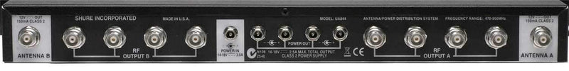 Shure UA844SWB UHF Active Antenna Splitter - PSSL ProSound and Stage Lighting