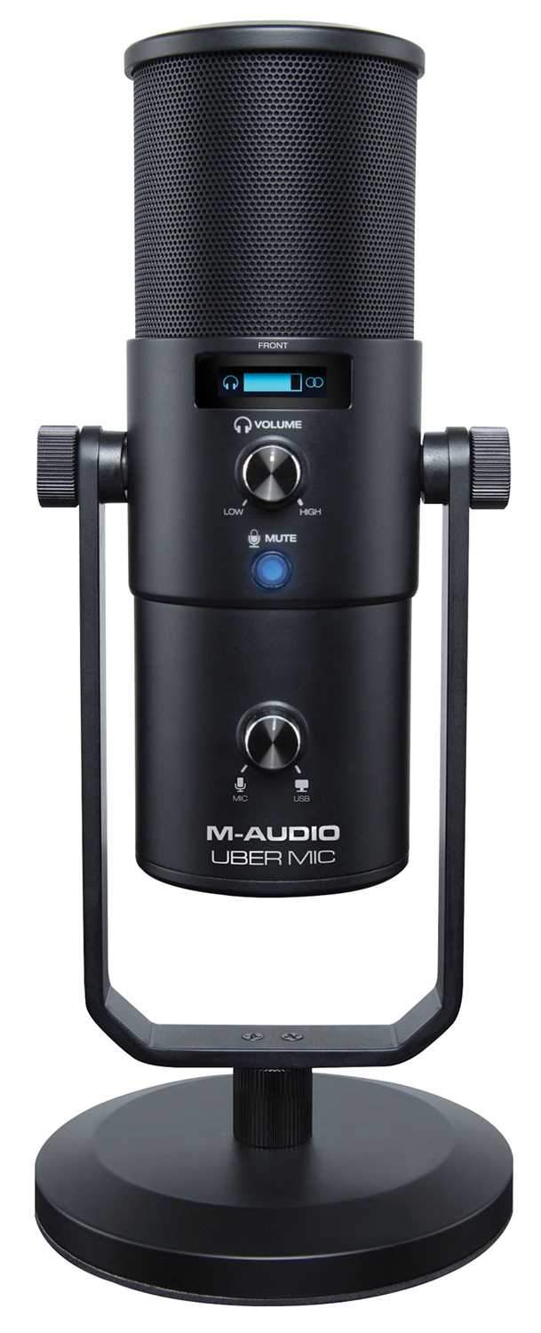 M-Audio Uber Mic USB Studio Condenser Microphone with Headphone Out - PSSL ProSound and Stage Lighting