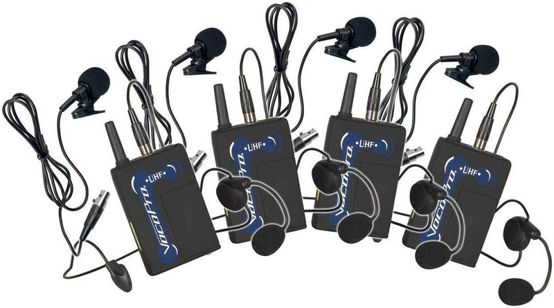 VocoPro UBP-3 4 Pack of Lavaliers for UHF Systems - PSSL ProSound and Stage Lighting