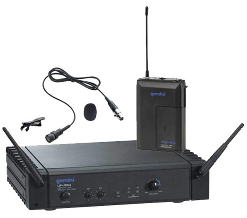 Gemini UF1264L Diversity Lavalier Mic System - PSSL ProSound and Stage Lighting