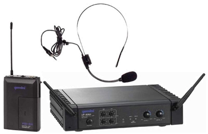 Gemini UF-2064H Dual Ch 2 Headset Mic Wireless - PSSL ProSound and Stage Lighting