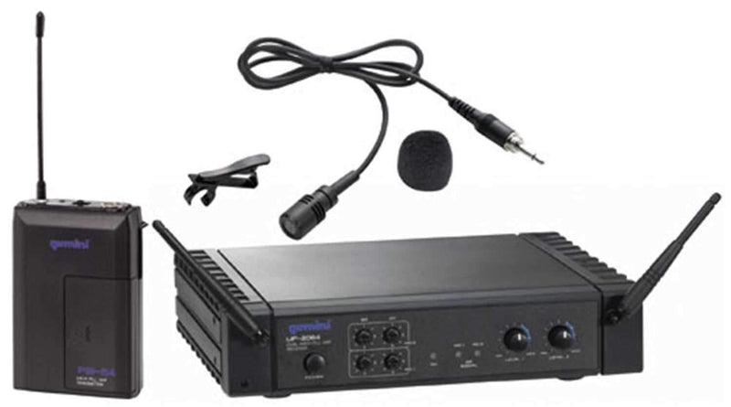 Gemini Wireless Dual Channel 2 Lavalier Mic System - PSSL ProSound and Stage Lighting