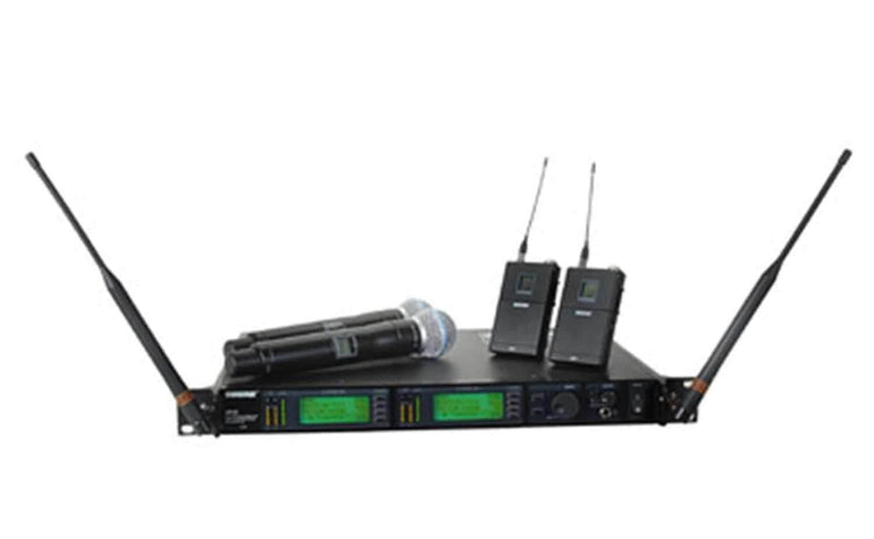 Shure UR124DBETA58 Dual Bodypack System-Beta58 - PSSL ProSound and Stage Lighting