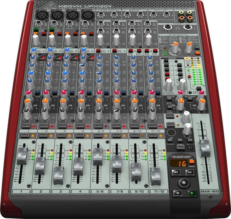 Behringer UFX1204 12-Channel PA Mixer with USB I/O - PSSL ProSound and Stage Lighting